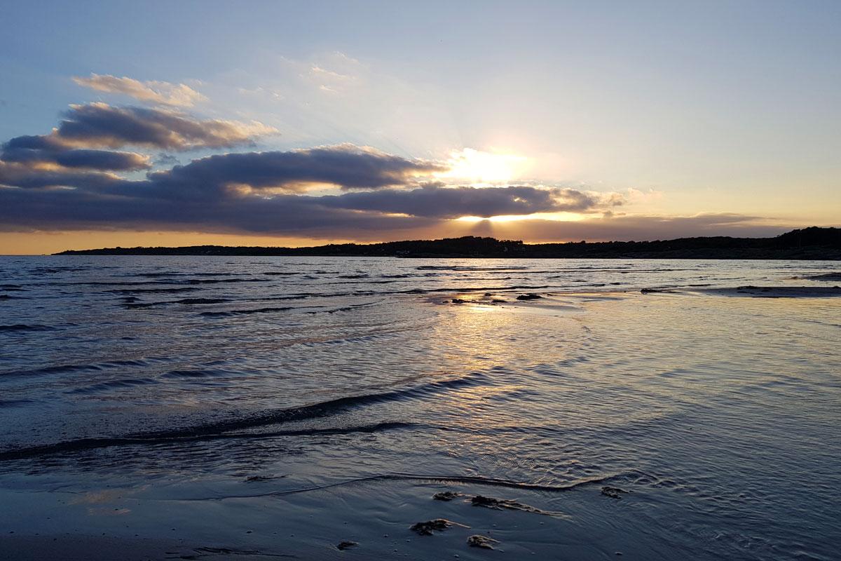 Solnedgång i Varberg